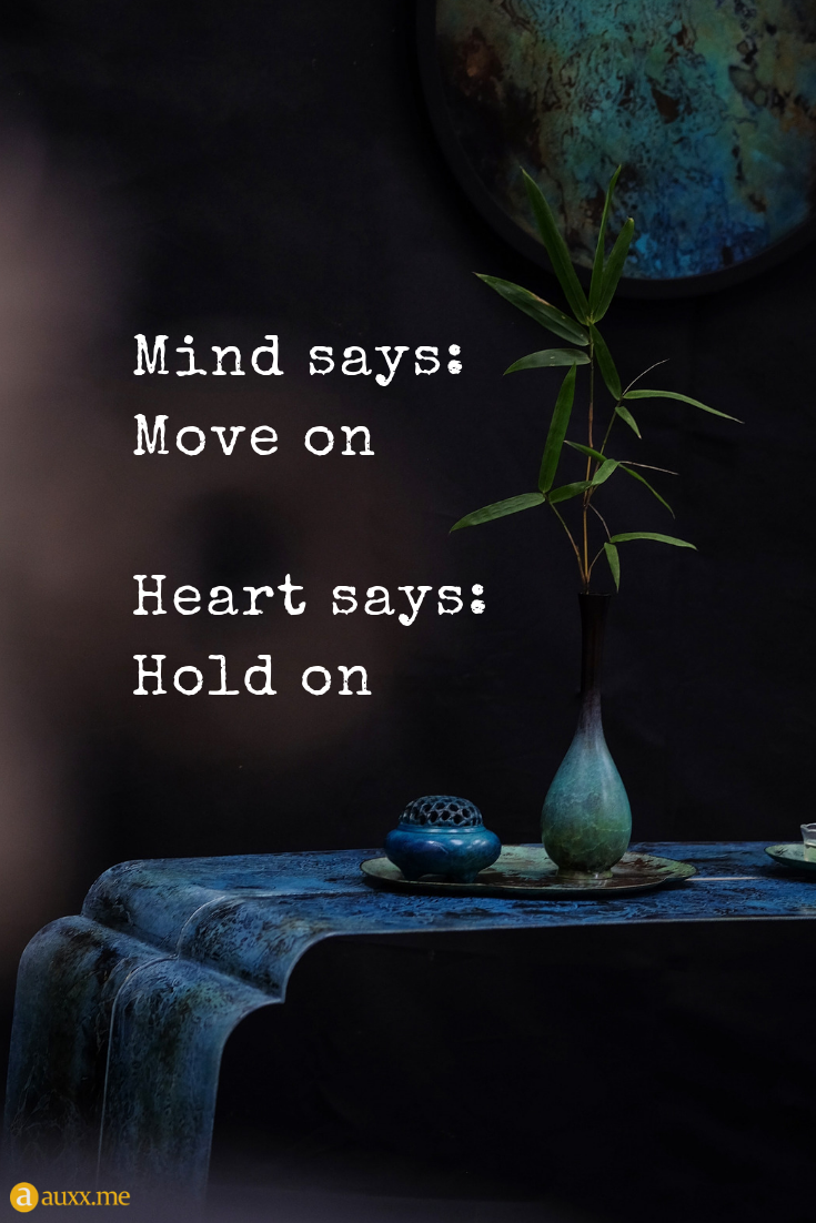 Mind Says Move On Heart Says Hold On Bamboo Plant Antique