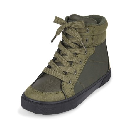 48be9fa049 The Children s Place Boys  High Top Lug Sneaker