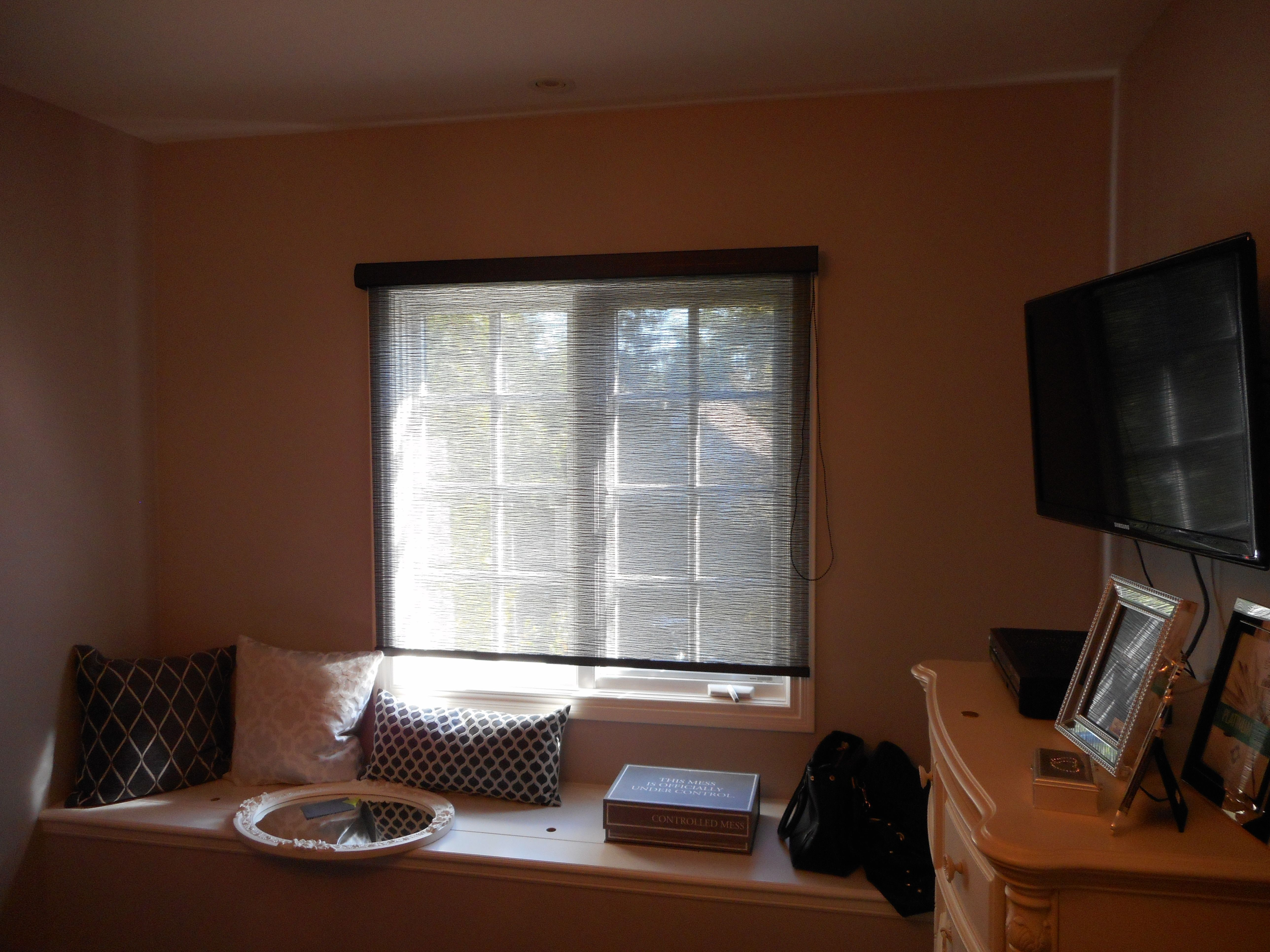 Customer submitted photo beautiful light filtering roller shade