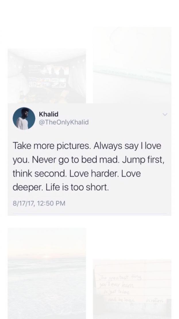 Mood Quotes Short Tweets Tweets By Khalid Relationship Tweet Quotes Fact Quotes Khalid Quotes