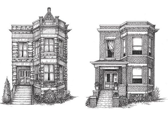 Line Drawing Of Your House : Get a beautifully detailed drawing of your house or someone