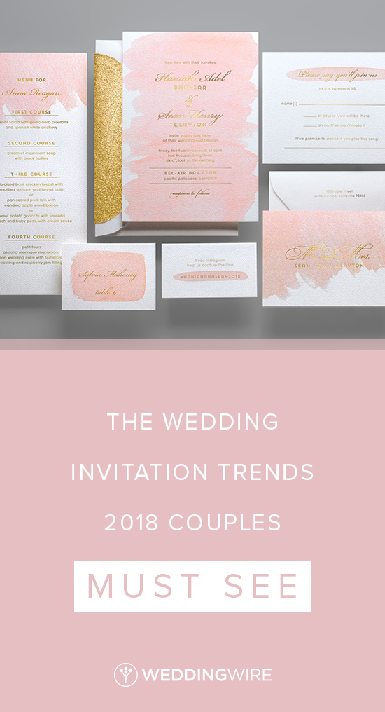 The Wedding Invitation Trends 2019 S Must See