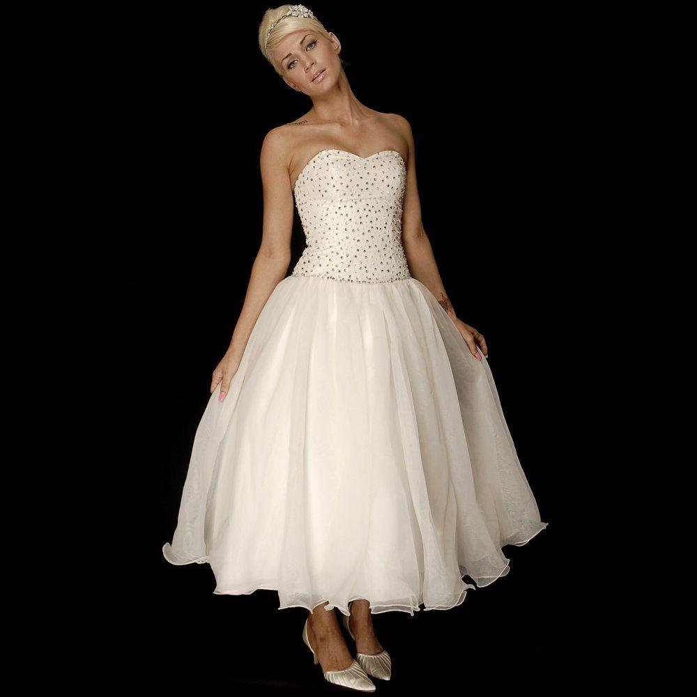 tea length wedding dresses for older brides   Home › Wedding Dresses ...