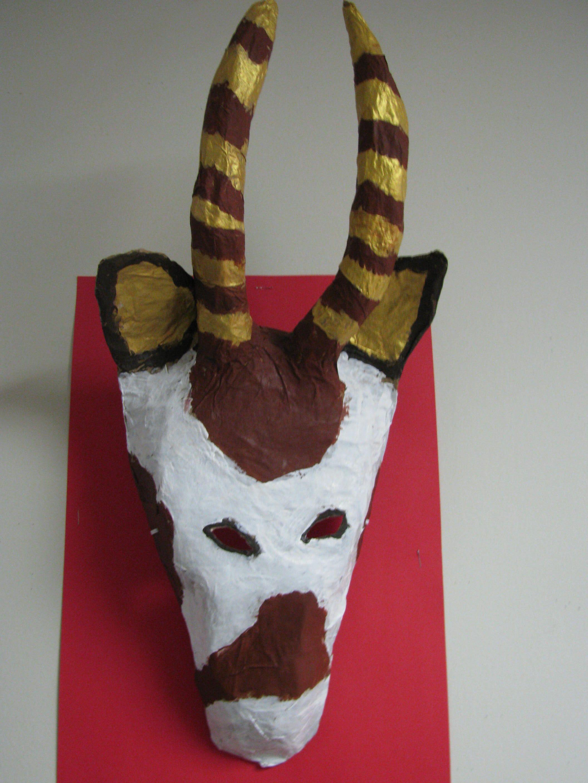 3rd Grade Paper Mache Gizelle Mask Art Teacher Susan Joe