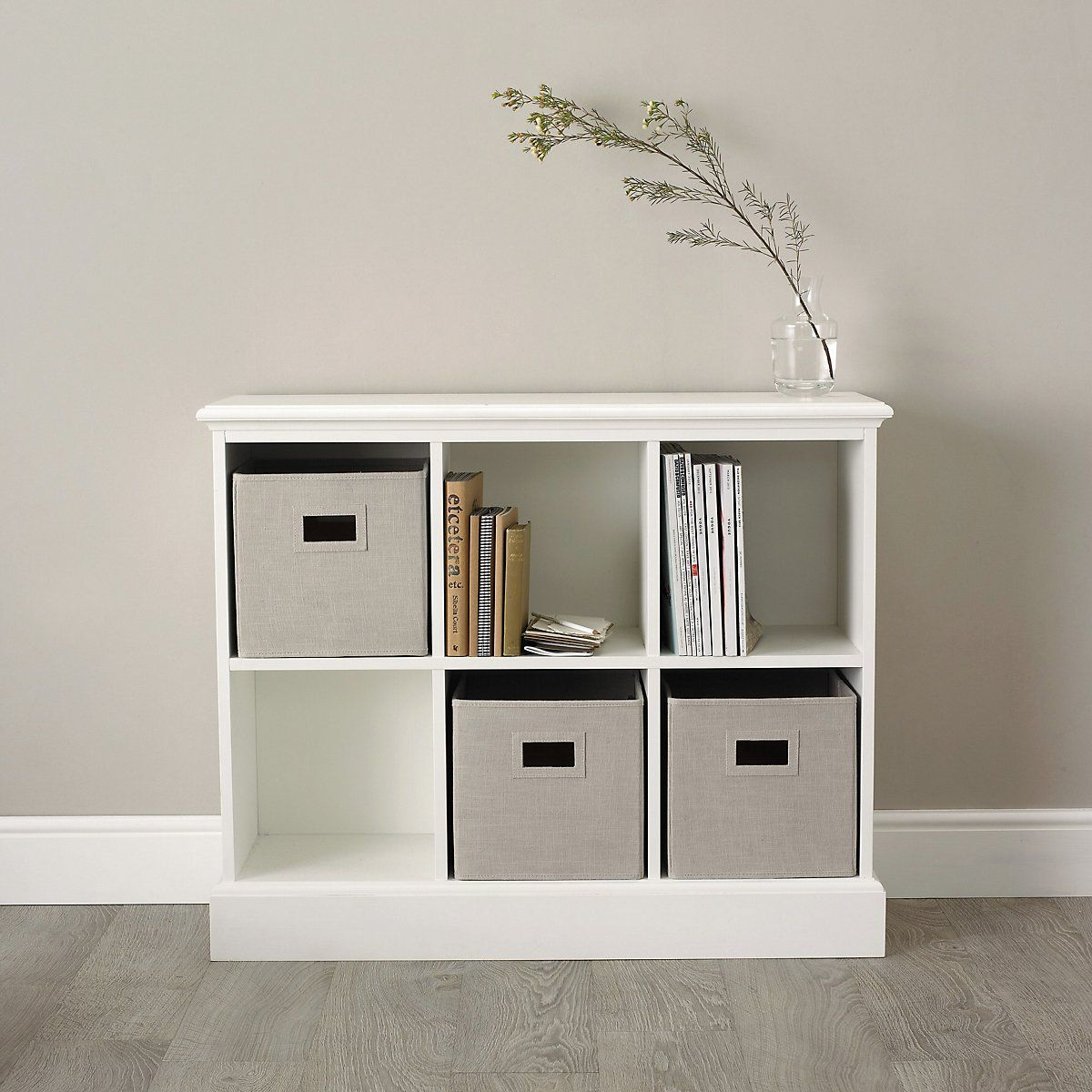 Classic 6 Cube Storage Unit Bedroom Furniture The White