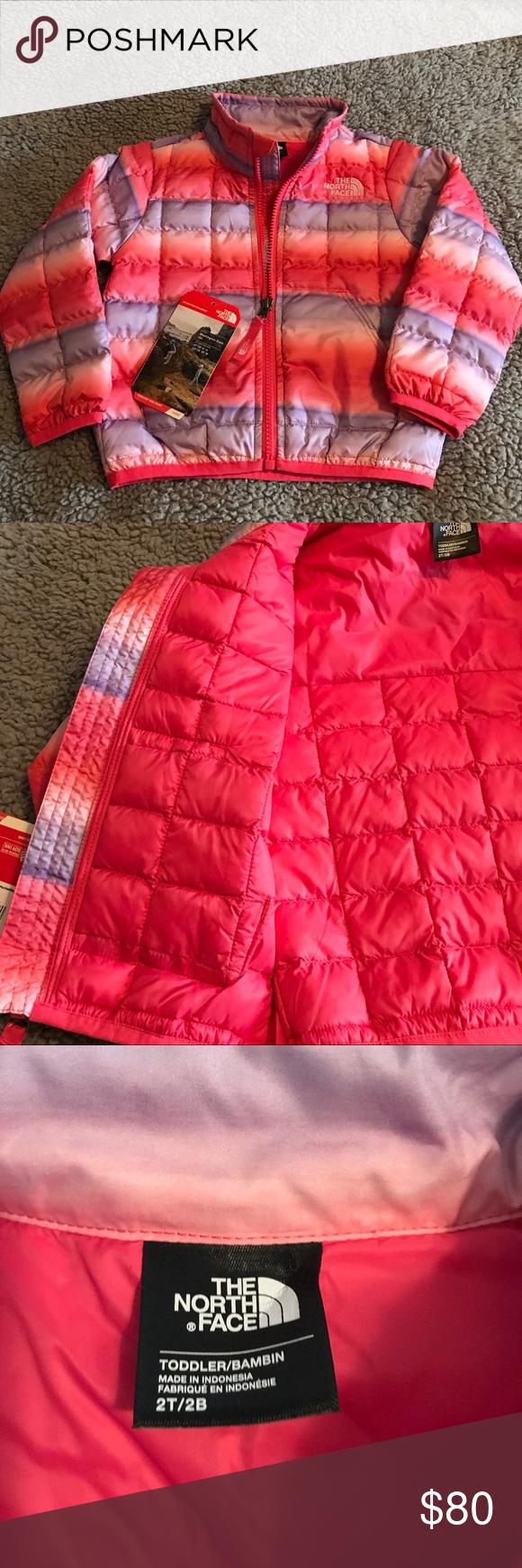 Size 2T  girls NorthFace Jacket Toddler girl size 2T NorthFace jacket. Really cute, warm jacket🎀 North Face Jackets & Coats Puffers