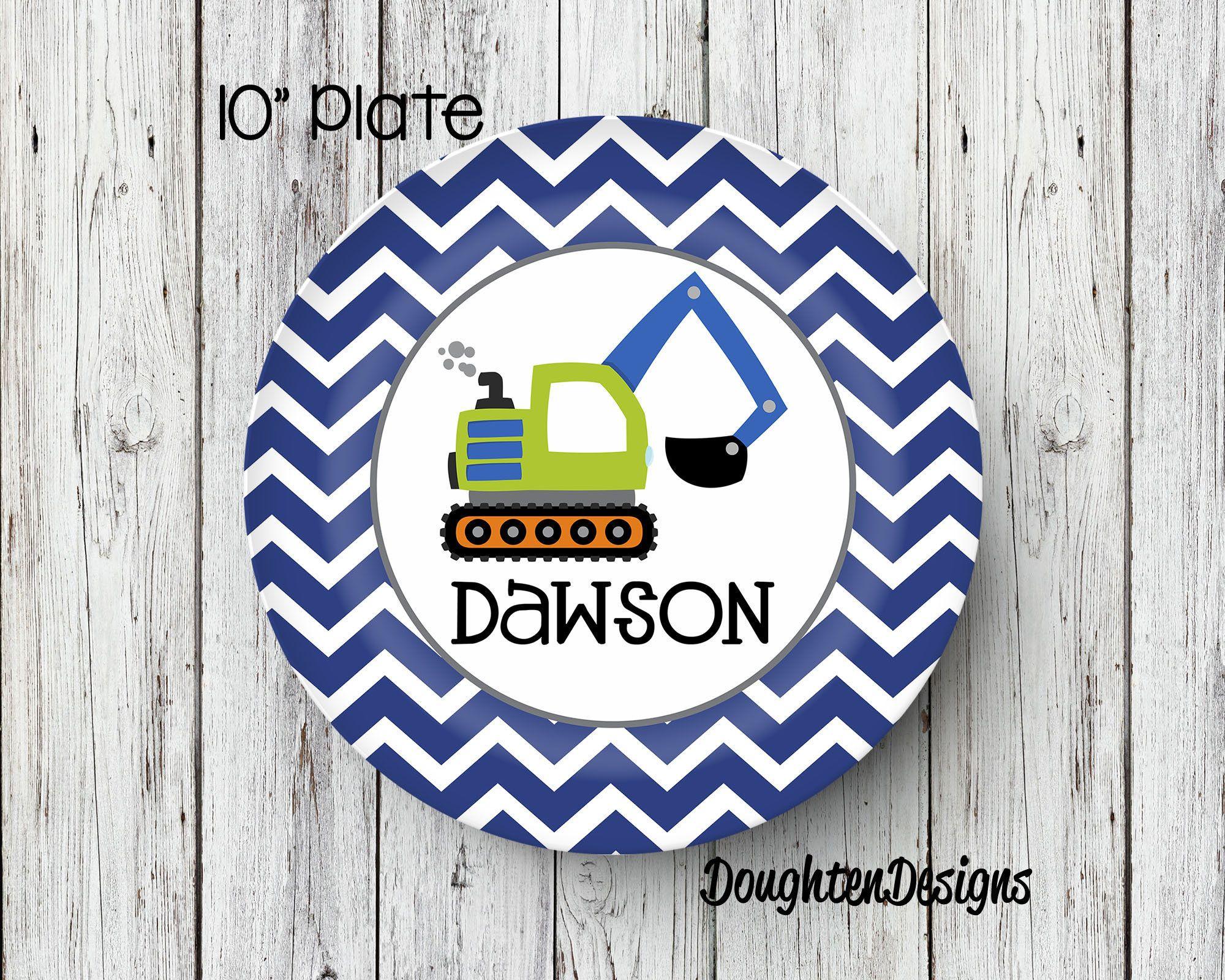 Personalized Melamine Plate Dump Truck plate Truck kids plate personalized kids plate Personalized Plate Kids Plate Melamine Plate  sc 1 st  Pinterest & Personalized Melamine Plate Dump Truck plate Truck kids plate ...