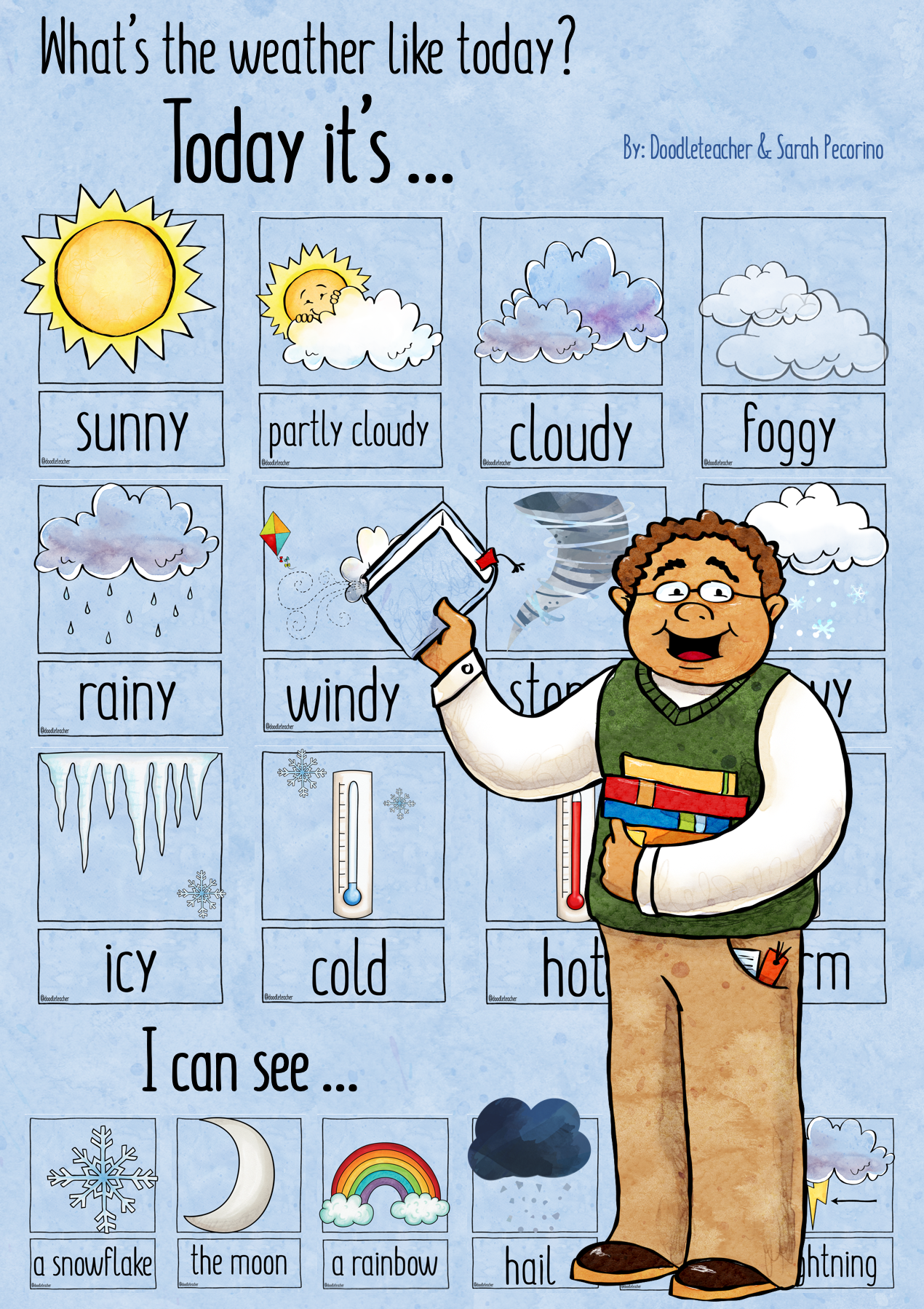 Weather Posters And Flash Cards In