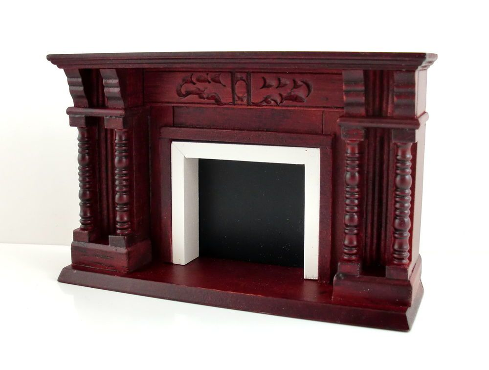 Dolls House Miniature 1:12 Furniture Wooden Walnut Fireplace With Mantle  Mirror | Miniatures: Food | Pinterest | Mantle Mirror, Doll House  Miniatures And ...