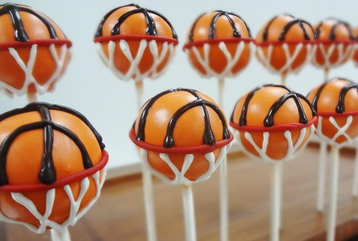 Basketball cake pops cake pops basketball cake pops