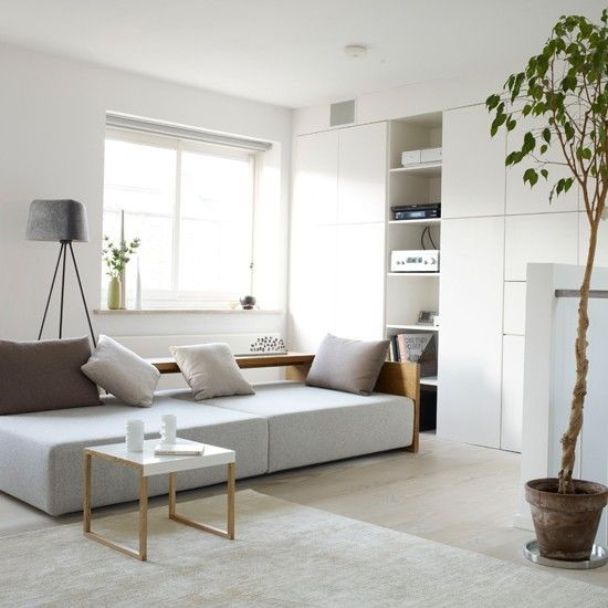 Wohnideen wohnzimmer weiß schlicht modern minimalistisch