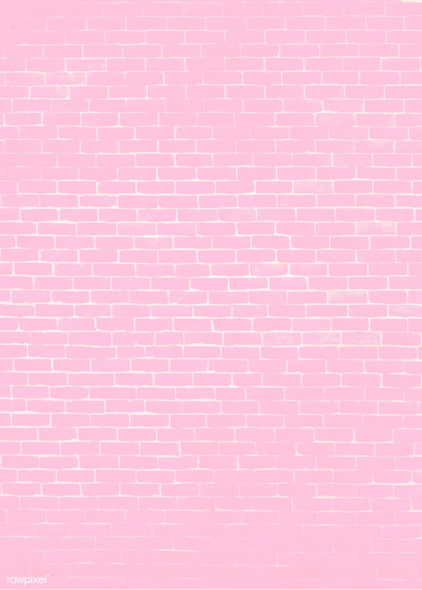 Pink brick wall textured background free image by