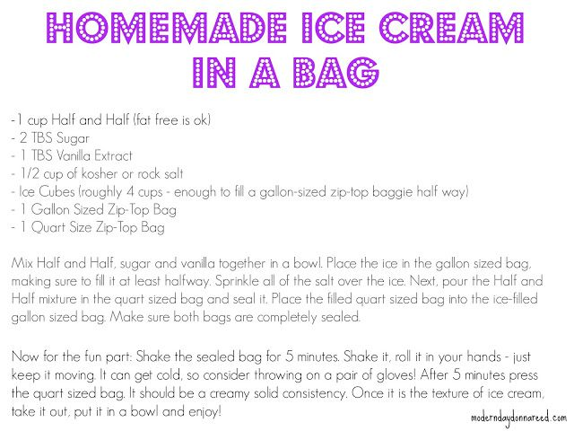 How To Make Homemade Ice Cream In A Bag Dessert Science Experiment Hy Kids