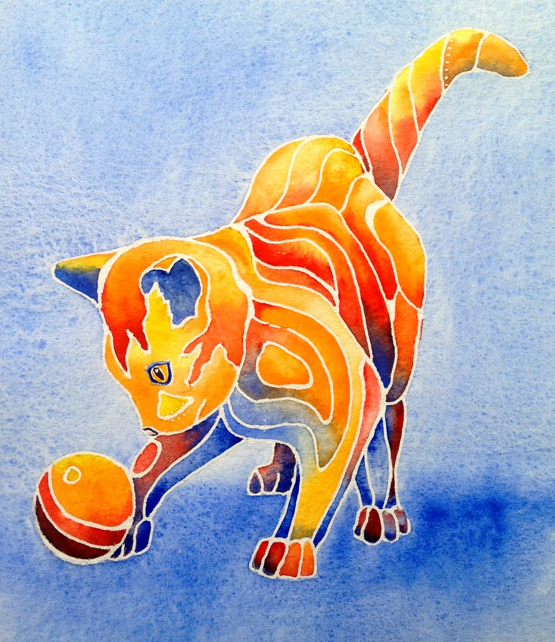 great watercolor exercise using warm and cool tones plimentary
