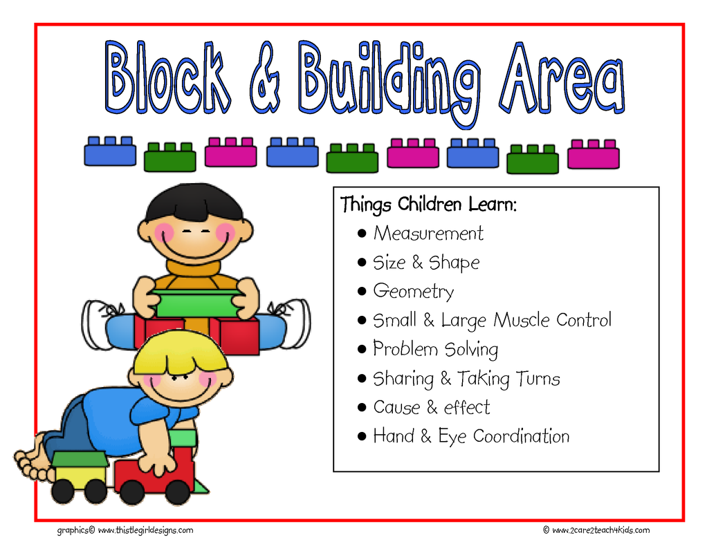 Interest Areas Or Learning Centers Are Specific Physical