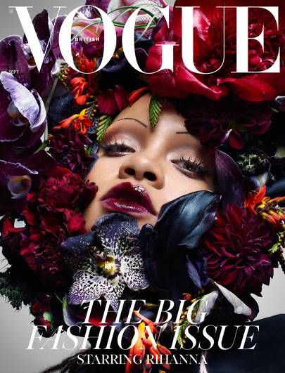 vogue magazine cover Rihanna