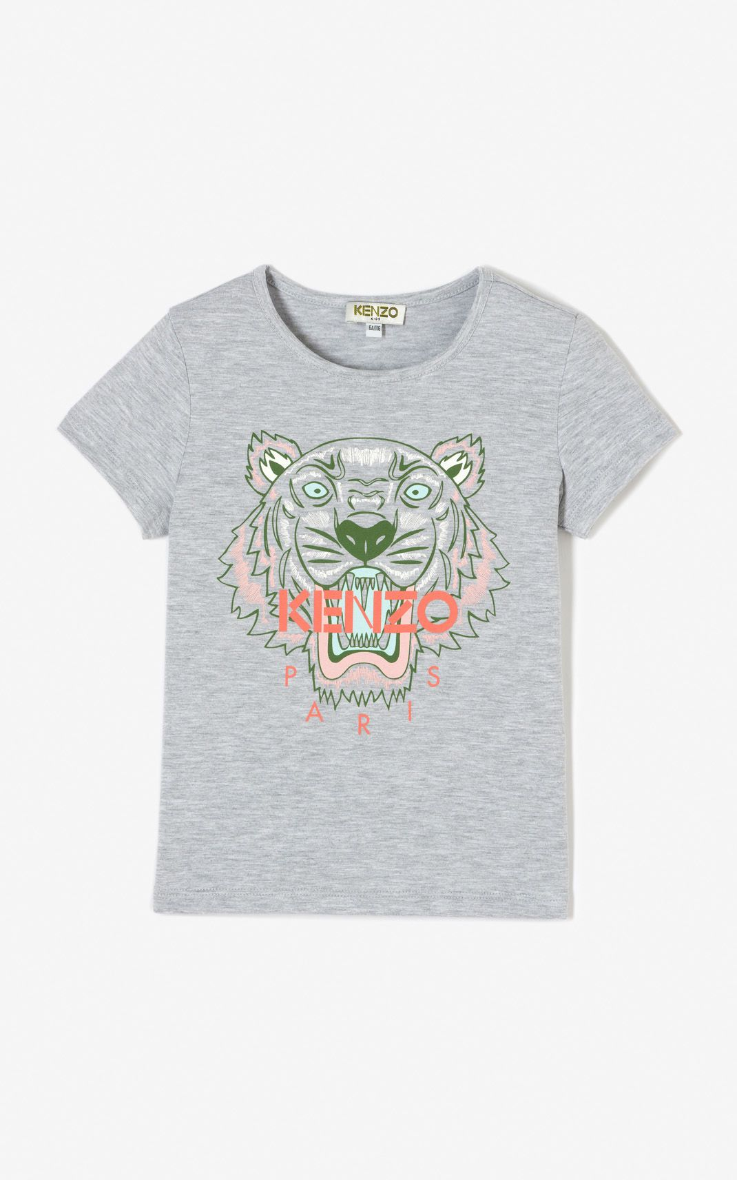 98ae9a431 MIDDLE GREY Tiger t-shirt for women KENZO   Kenzo Summer 18 ...