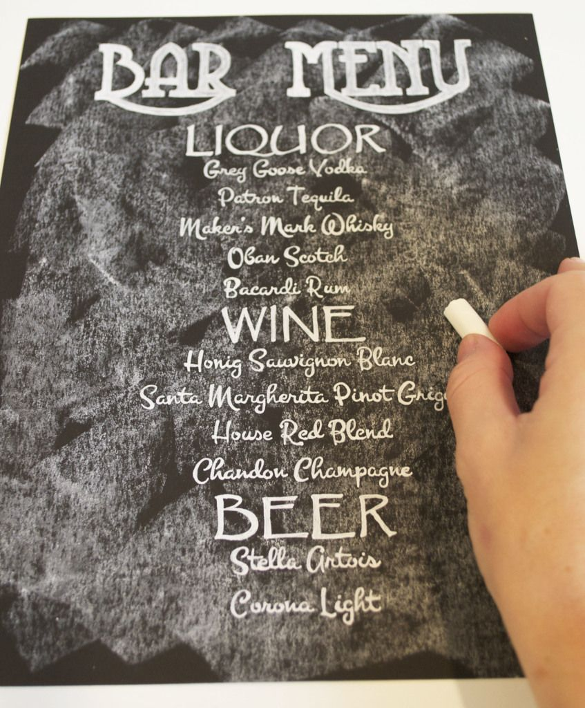 Diy Chalkboard Wedding Signs A Simple Hack With Images