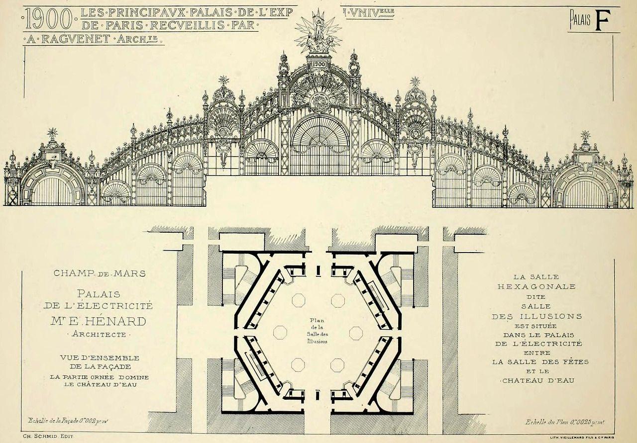 Architectural drawings on pinterest 505 pins - Bazar de l electricite paris ...