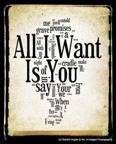 U2 All I Want Is You With Images Yours Lyrics Play That