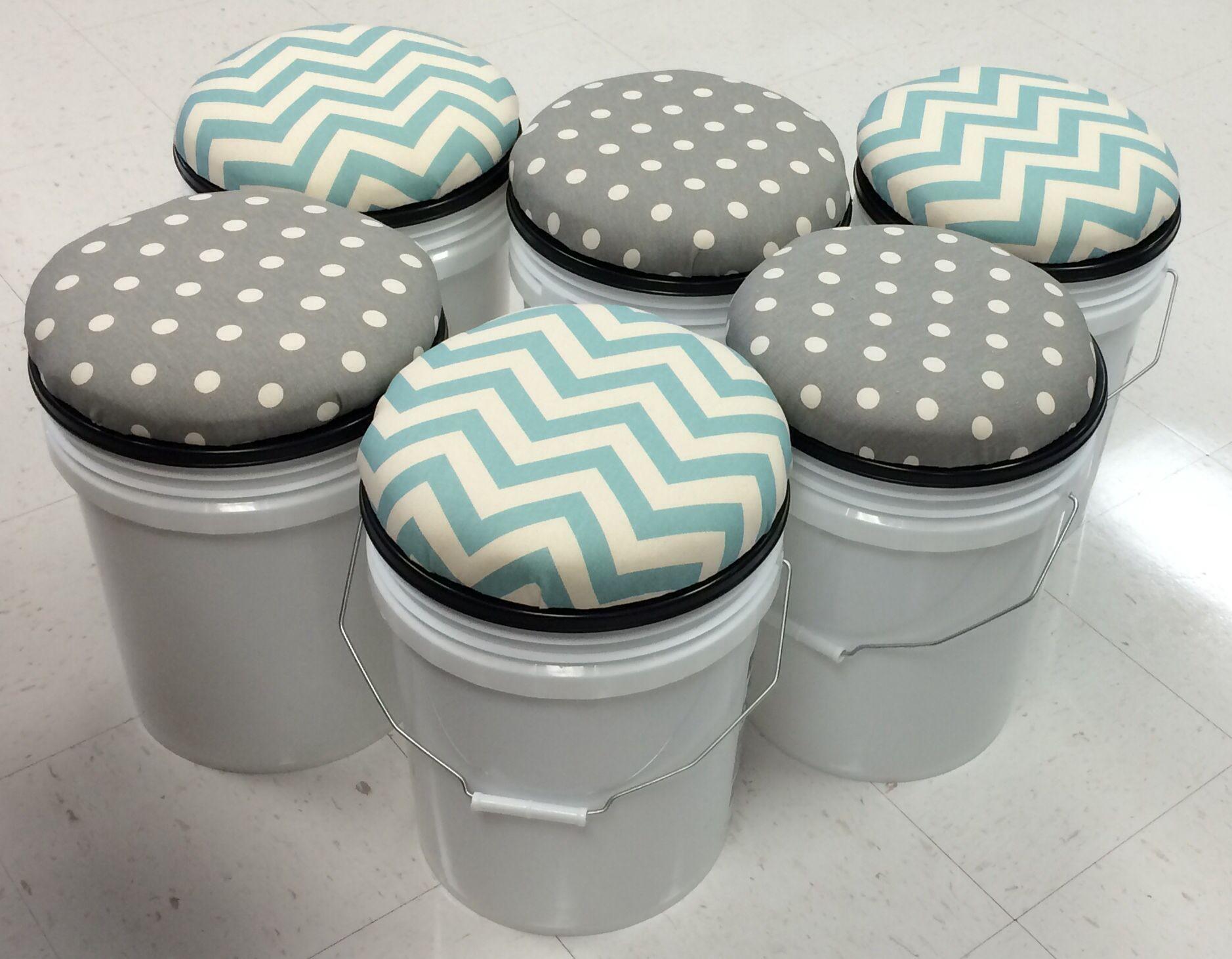 5 gallon bucket stools for small group kidney table - Pintura para baldosas ...