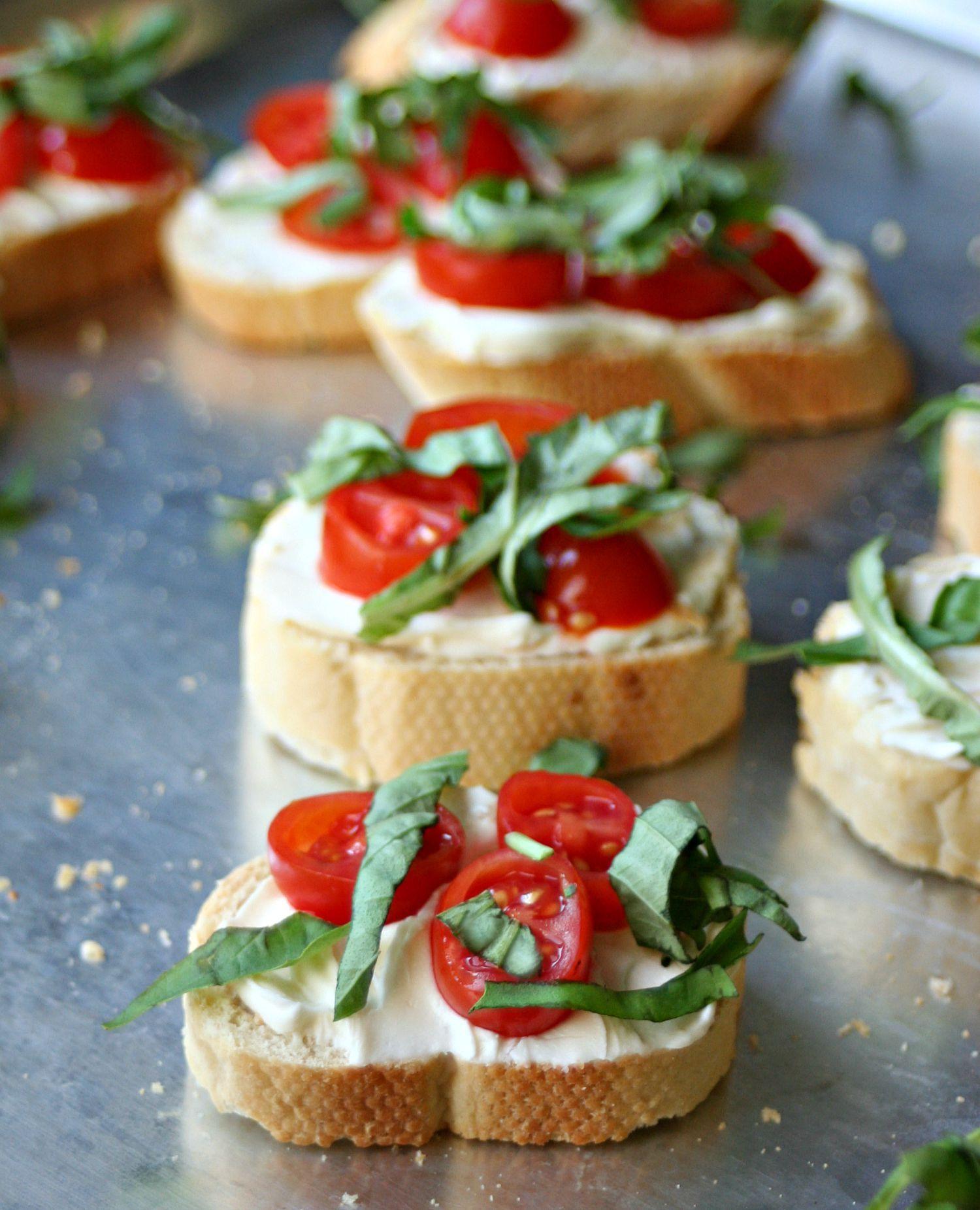 Tomato Basil Crostinis Recipe Crostini Starters Recipes