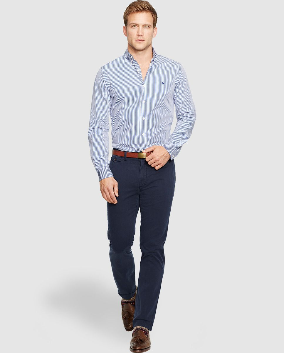 40a95a08c4 Camisa de hombre de rayas slim azul · Polo Ralph Lauren · Moda · El Corte  Inglés