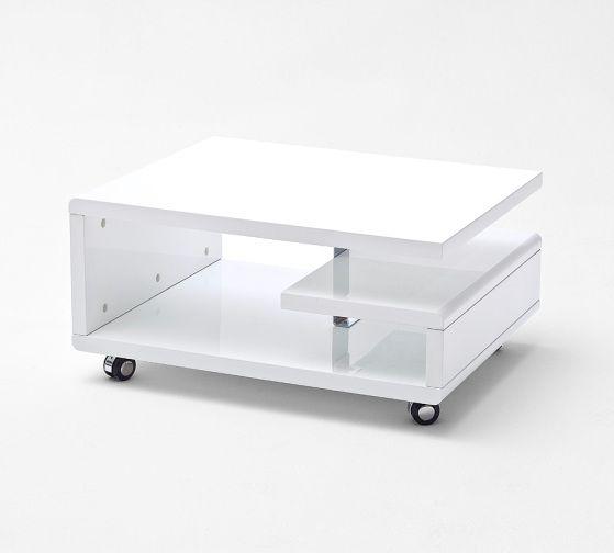 Kira Coffee Table High Gloss White With Wheels Coffee Table High Gloss Living Room Furniture Sale