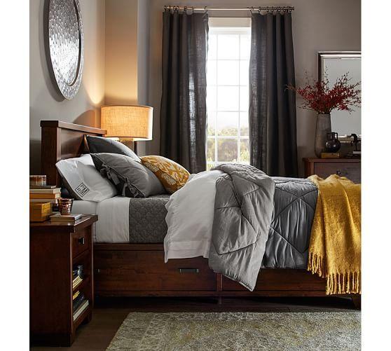 Linen Silk Comforter  Sham bedrooms Pinterest Bedroom