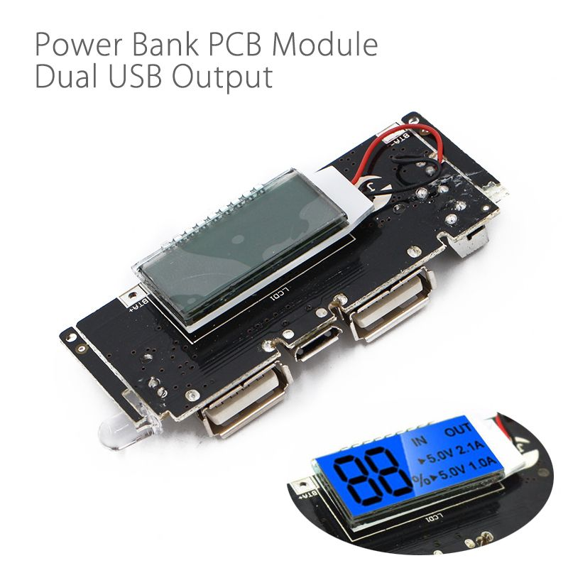 Dual Usb 5v 1a 2 1a Mobile Power Bank 18650 Battery Charger Pcb