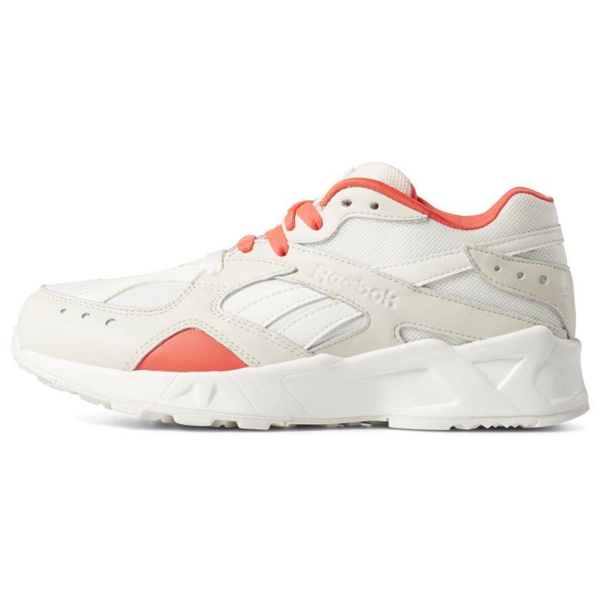b92c37a895 Reebok Shoes Unisex Aztrek x Gigi Hadid in Chalk/Neon Red/Black Size ...