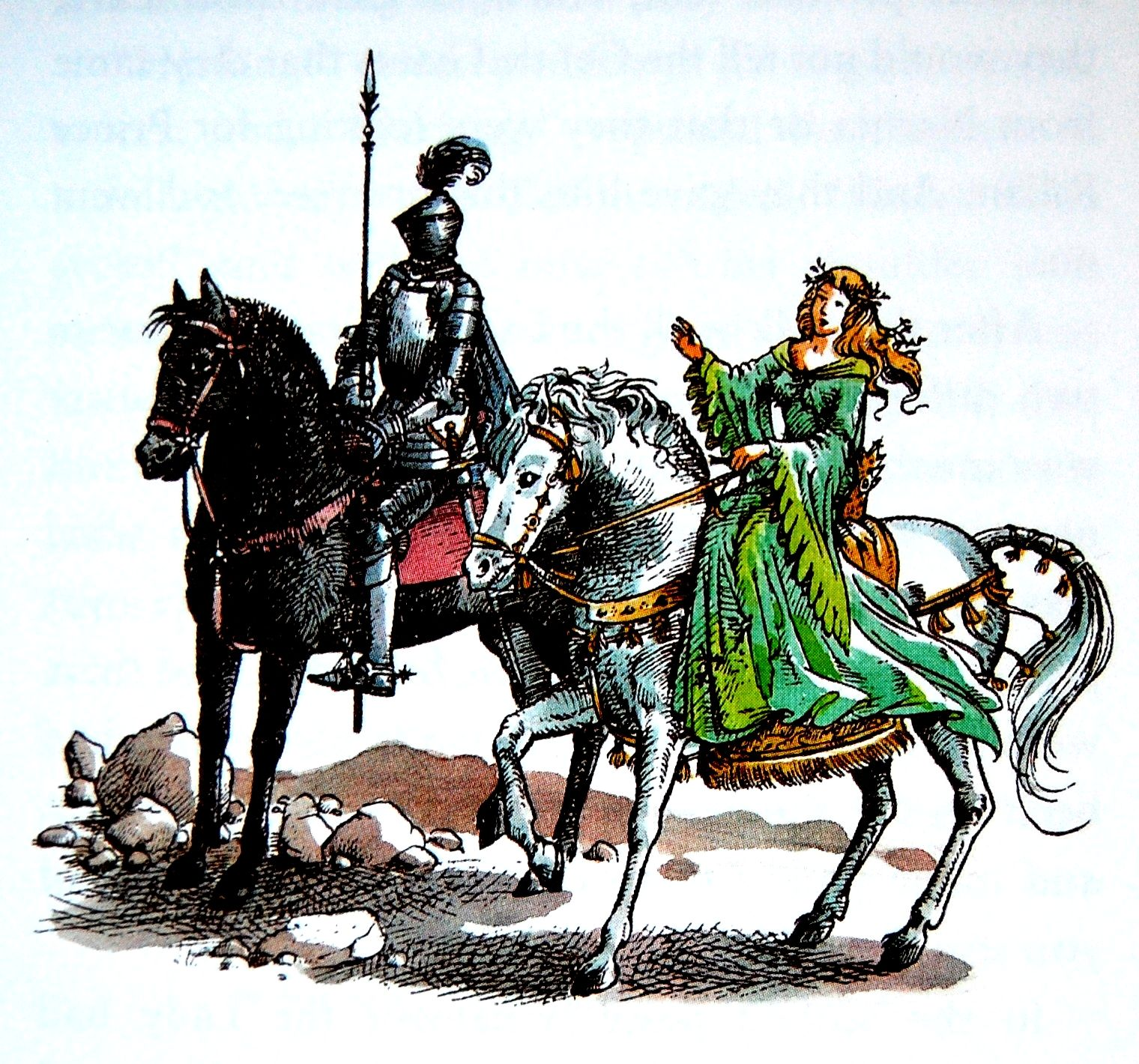 The silver chair illustrations - Lady Of The Green Kirtle