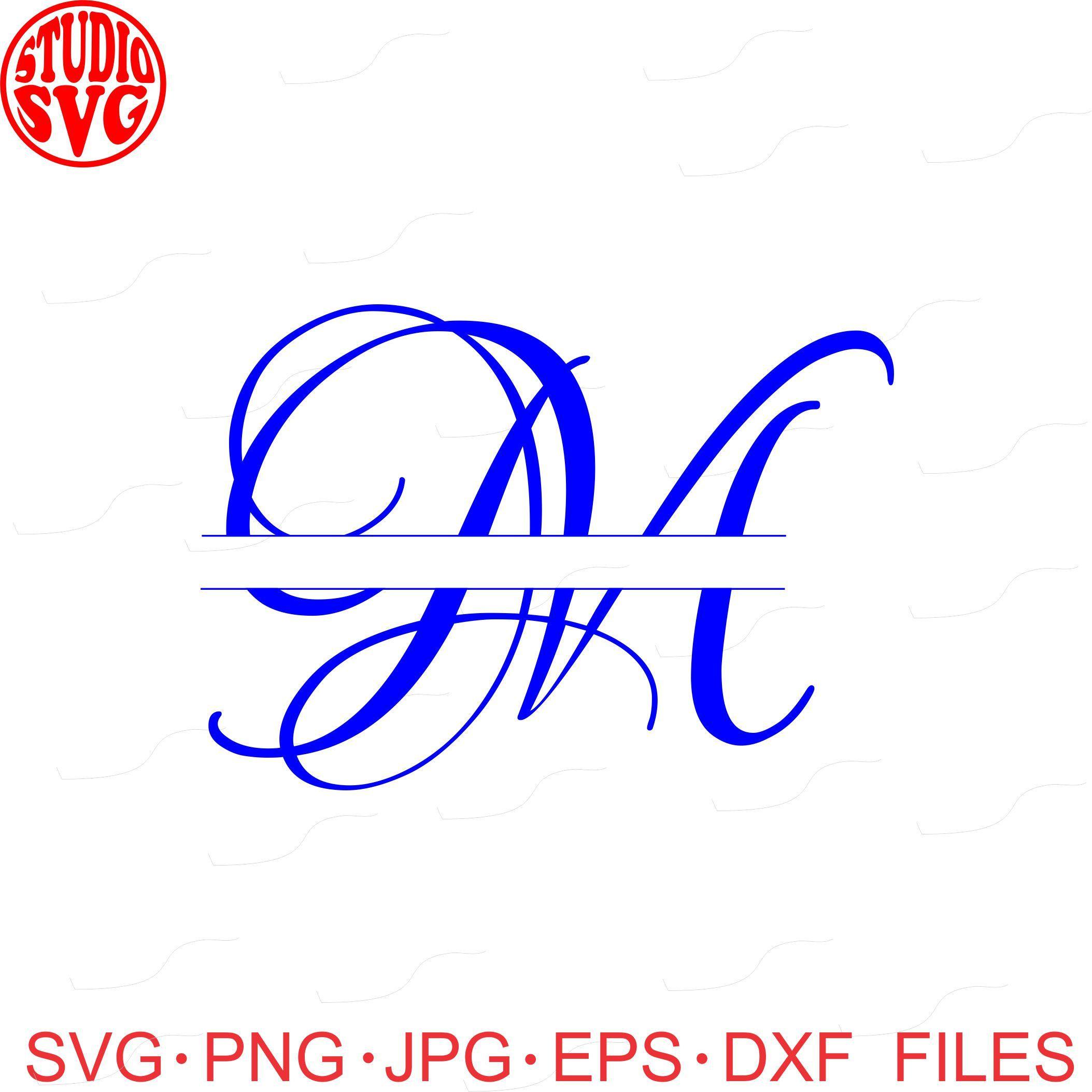 Digital Cut File, Lovers Quarrel Split M Letter M, M