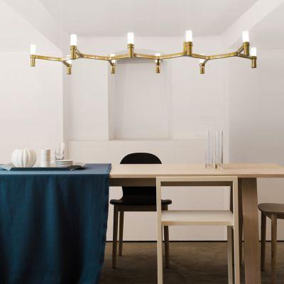 Crown Plana Linea Suspension By Nemo At Lumens Com Linear Lighting Dining Room Light Fixtures Dining Room Lighting