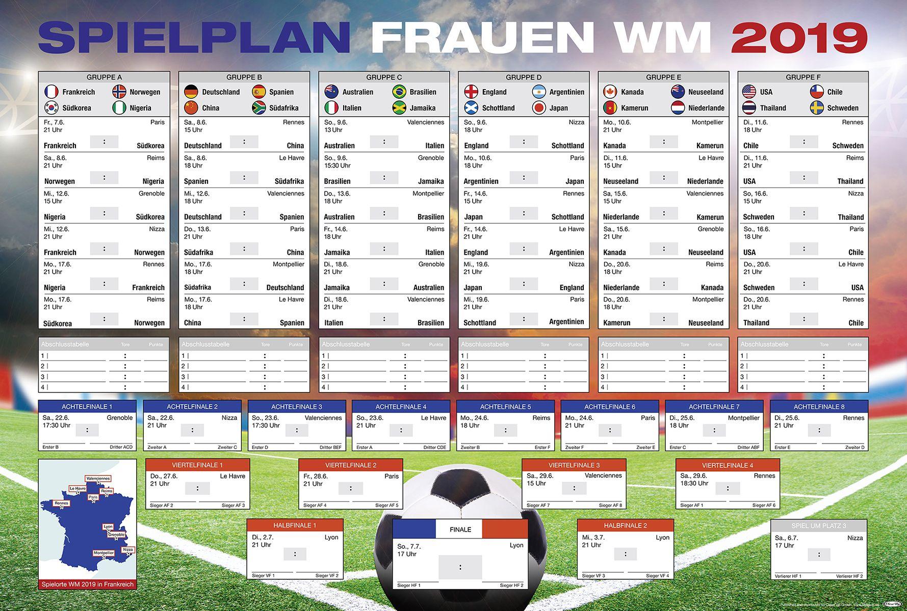 Spielplan Frauenfußball Wm