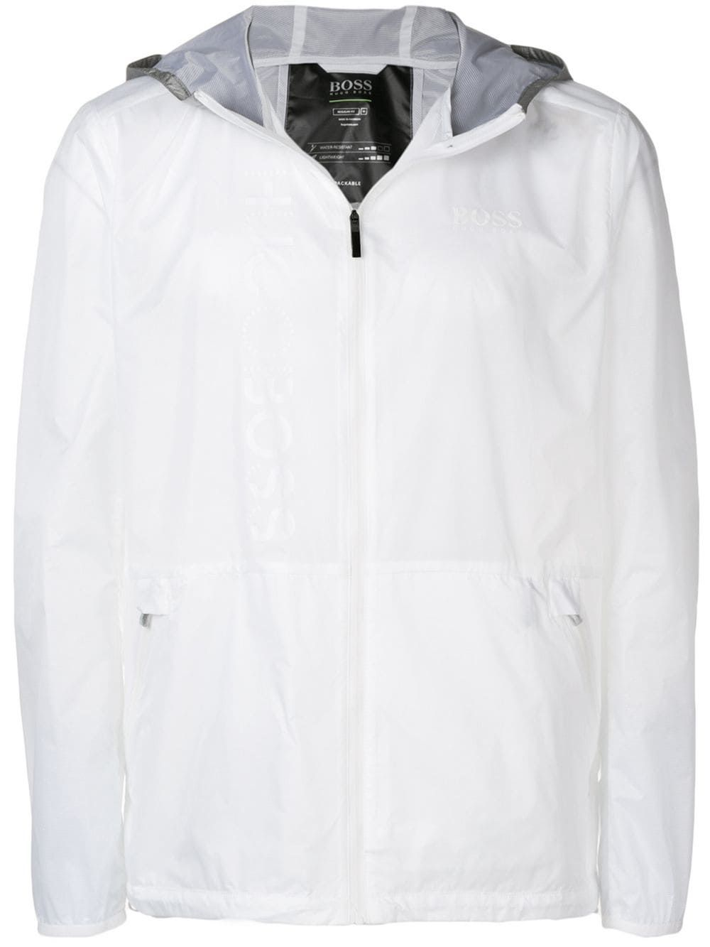 bf762986 BOSS HUGO BOSS BOSS HUGO BOSS TONE-ON-TONE PRINT JACKET - WHITE.  #bosshugoboss #cloth