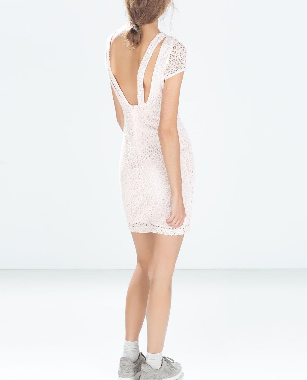 White lace dress zara  Pin by Mireia Borràs Roca on Roba  Pinterest  Tube dress Zara