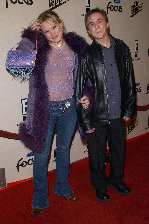 Frankie Muniz and Hilary Duff