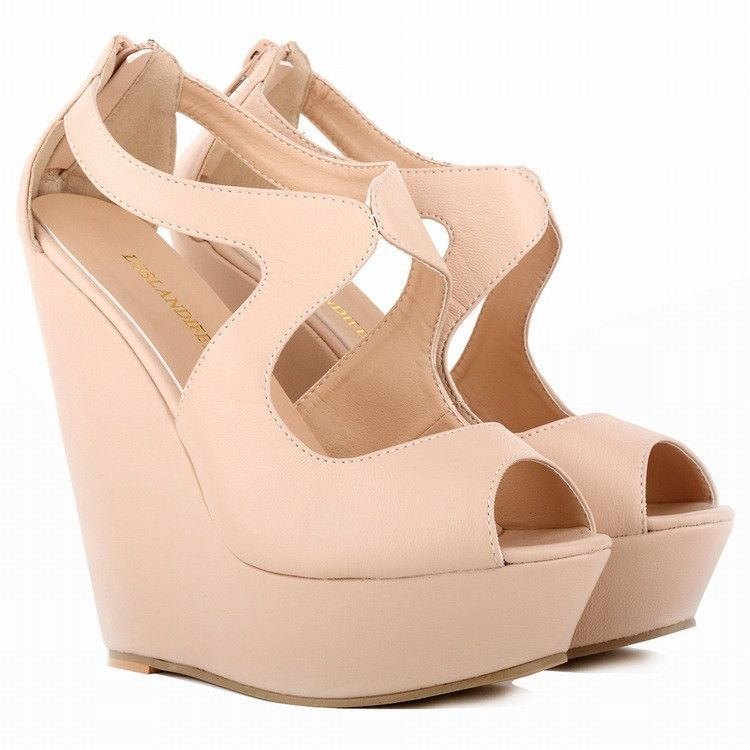 ef467558c3 Sexy Peep-Toe High Wedges Club Sandals | Shoes! (Wedges) | Leather ...