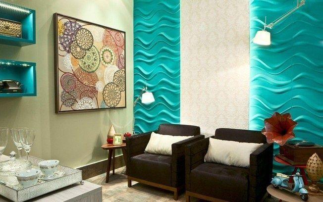 1ae01833cb Salas-com-Grafiato (8) | Salas: Estar e TV em 2019 | Textura parede,  Revestimento 3d e Parede 3d gesso
