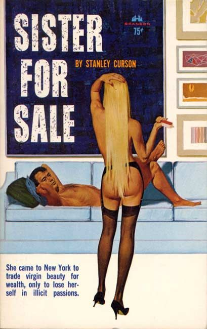 Fantasy Book Cover Art For Sale : Sister for sale pulp art vintage cover fiction