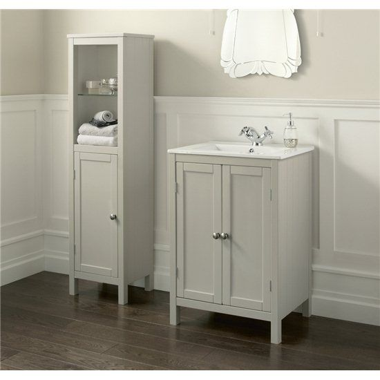Drawer Unit And Basin With Tap Hole Ceramic Basin Exposed Hinges