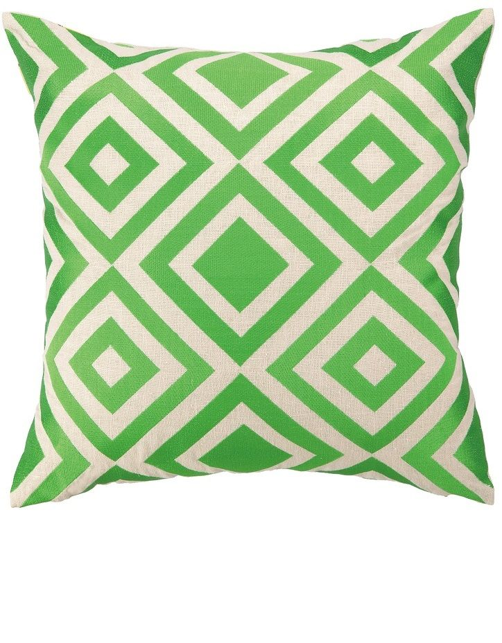 Modern Green Embroidery Fashion Throw Pillows & Cushions, Trending Hollywood Interior Design ...