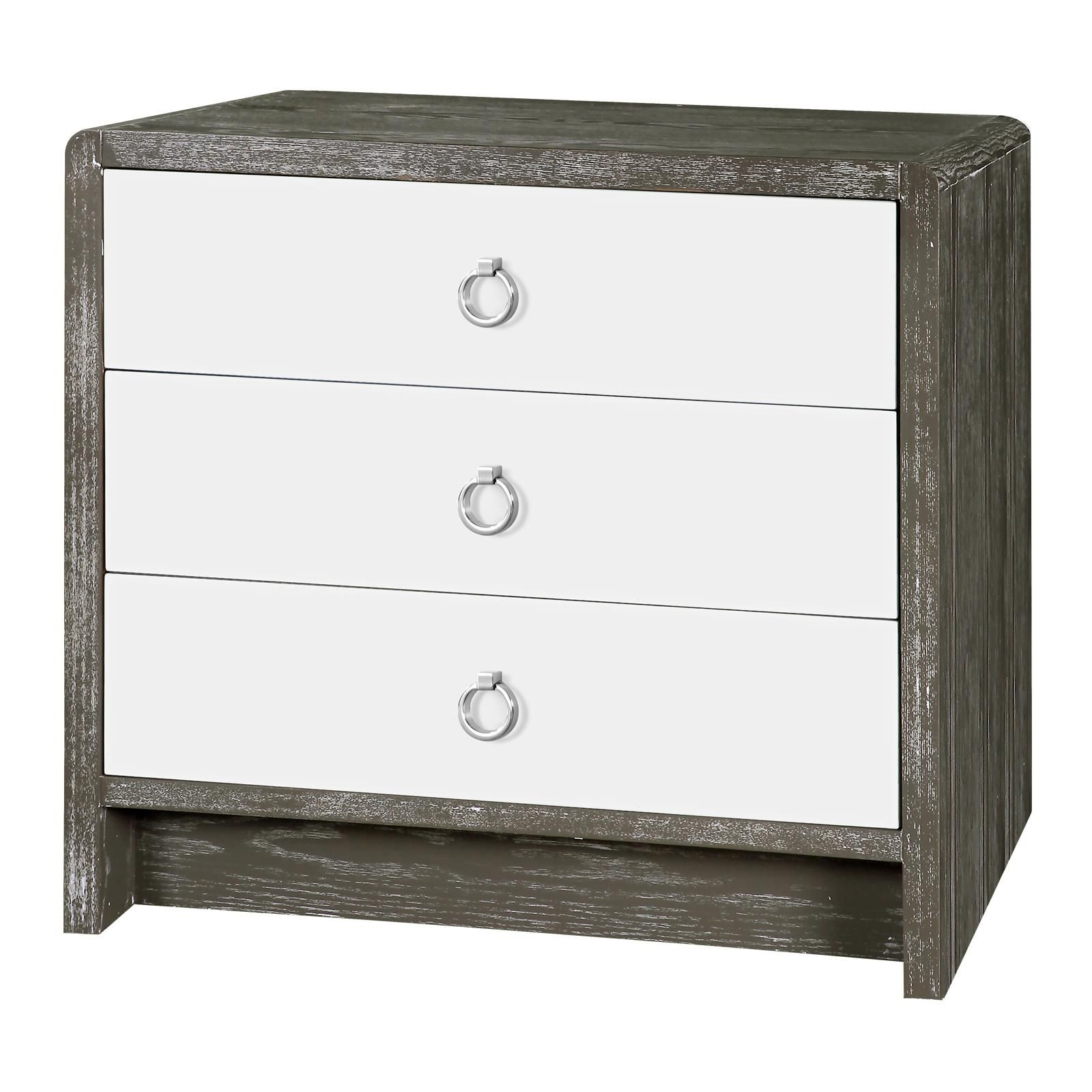 Charmant Niagara 3 Drawer Side Table, Gray   Bungalow 5 Boys Nightstand