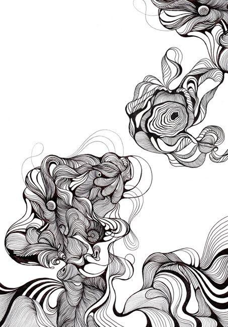 Organic Line Design Line Art Drawings Artwork Organic Lines