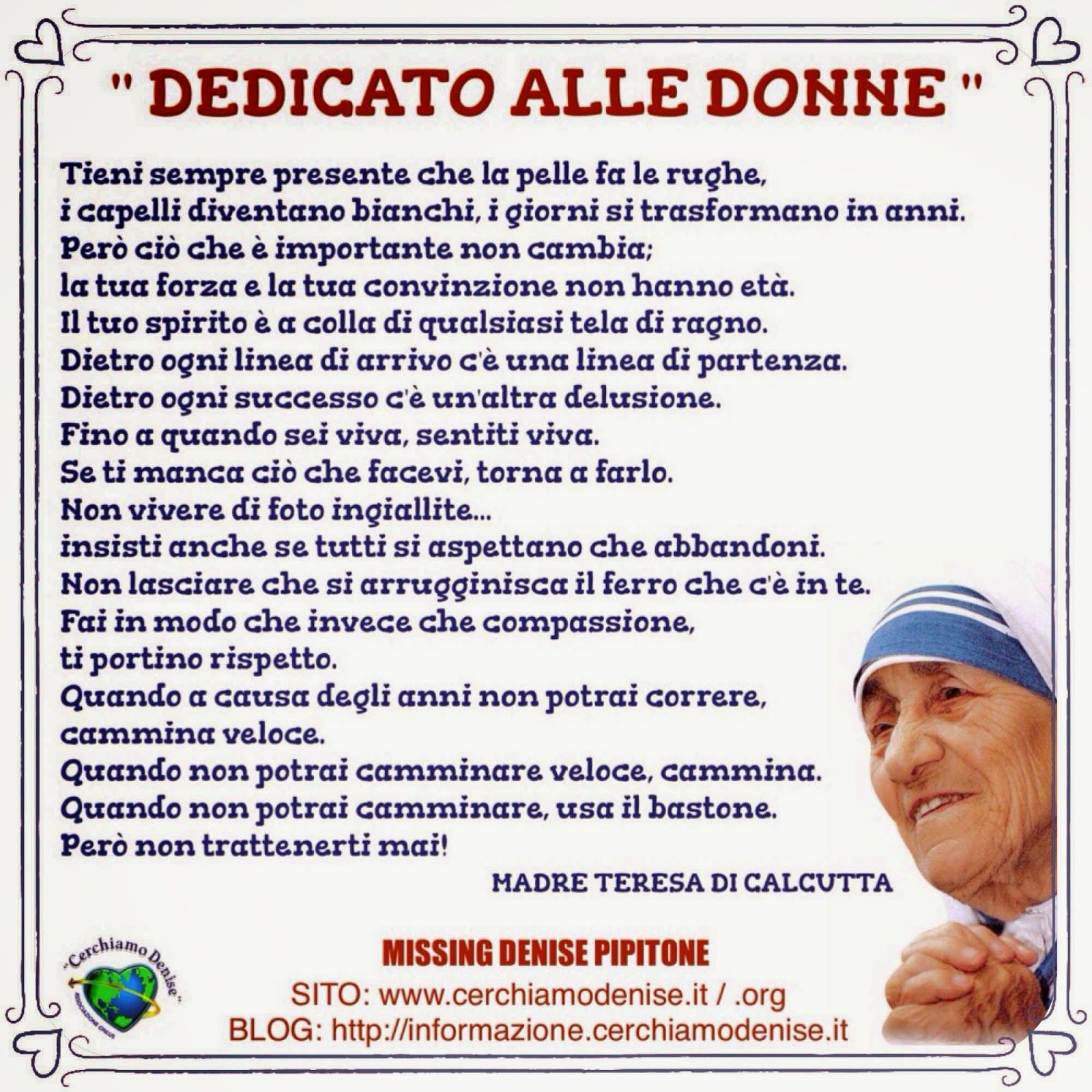 Frasi Madre Teresa Natale.Poesia Natale Di Madre Teresa Cerca Con Google Poesie