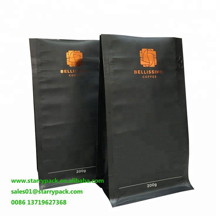 Custom Individual Coffee Bags Flat Bottom Ziplock Coffee Packaging With Images Coffee Bag Coffee Packaging Bags