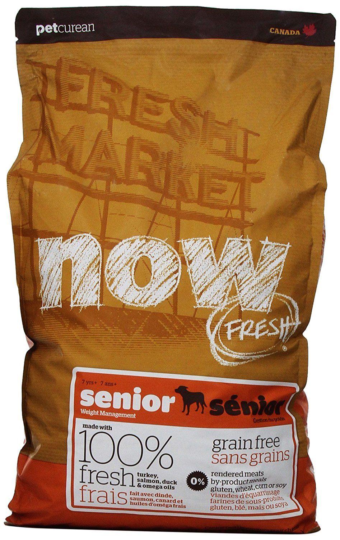Now 152347 Fresh Grain Free Senior Dog Food 12 Pound Bag