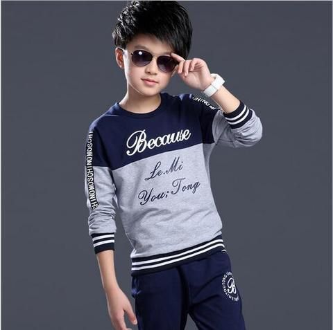 dc0d7ffd9fa0 Summer Spring Boys Tracksuit Casual Boy Clothing Set Handsome Kids ...