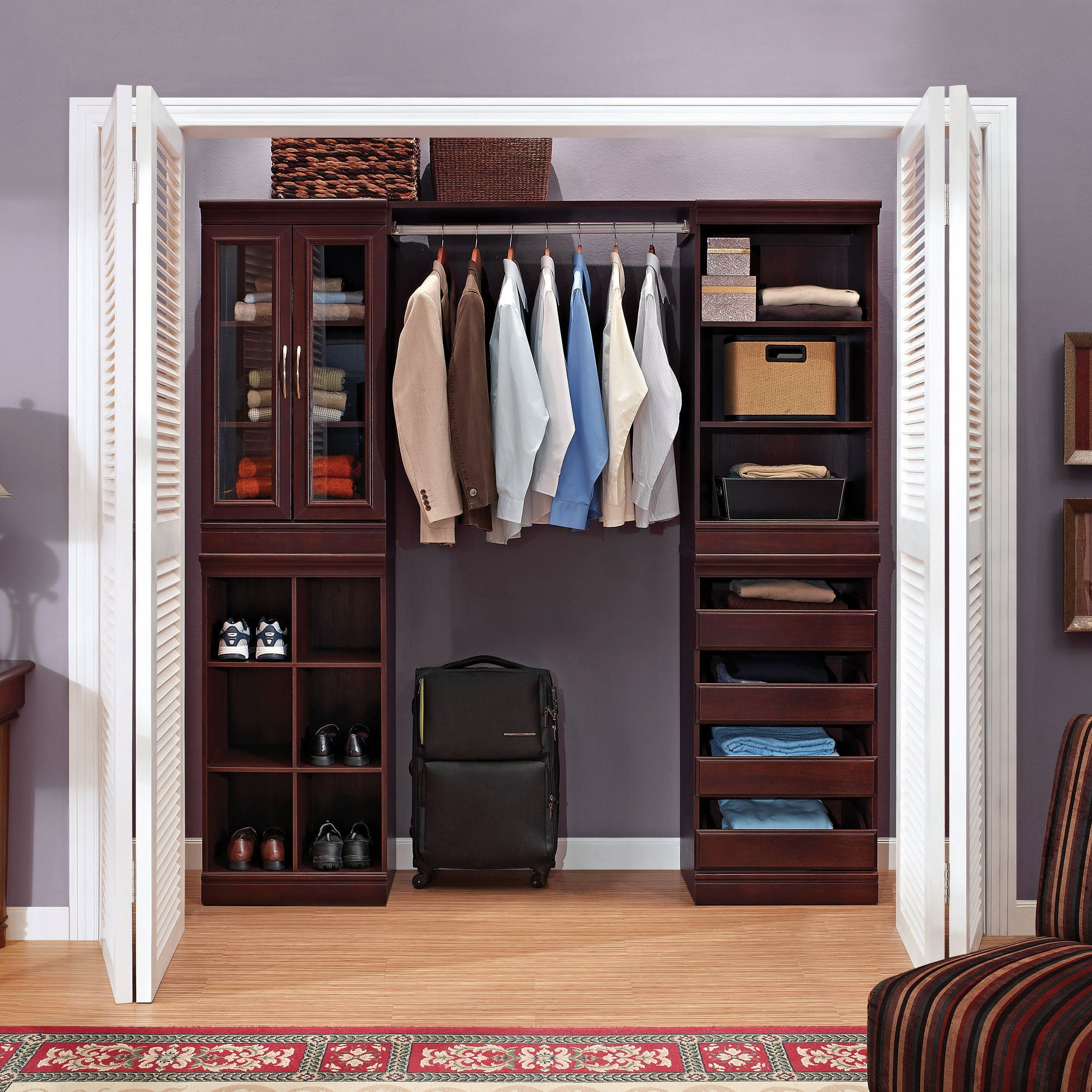 The Whalen Storage Closet Organization System Is An Ideal Solution For Personalizing Any Size